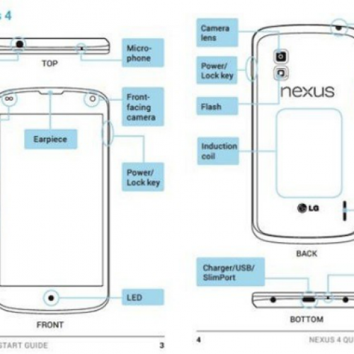 Leaked Nexus 4 manual confirms wireless charging