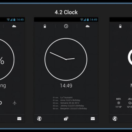 Get this look for your Android smartphone: 4.2 Clock