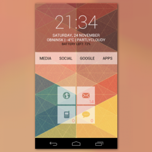 Get this look for your Android smartphone: Nexusonic