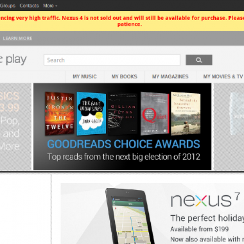 Google: Nexus 4 is NOT sold out