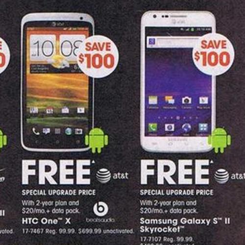 RadioShack's Black Friday ad leaks with multiple Android savings, freebies