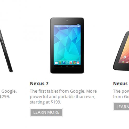 Nexus 4, Nexus 10 arrive in Google Play store