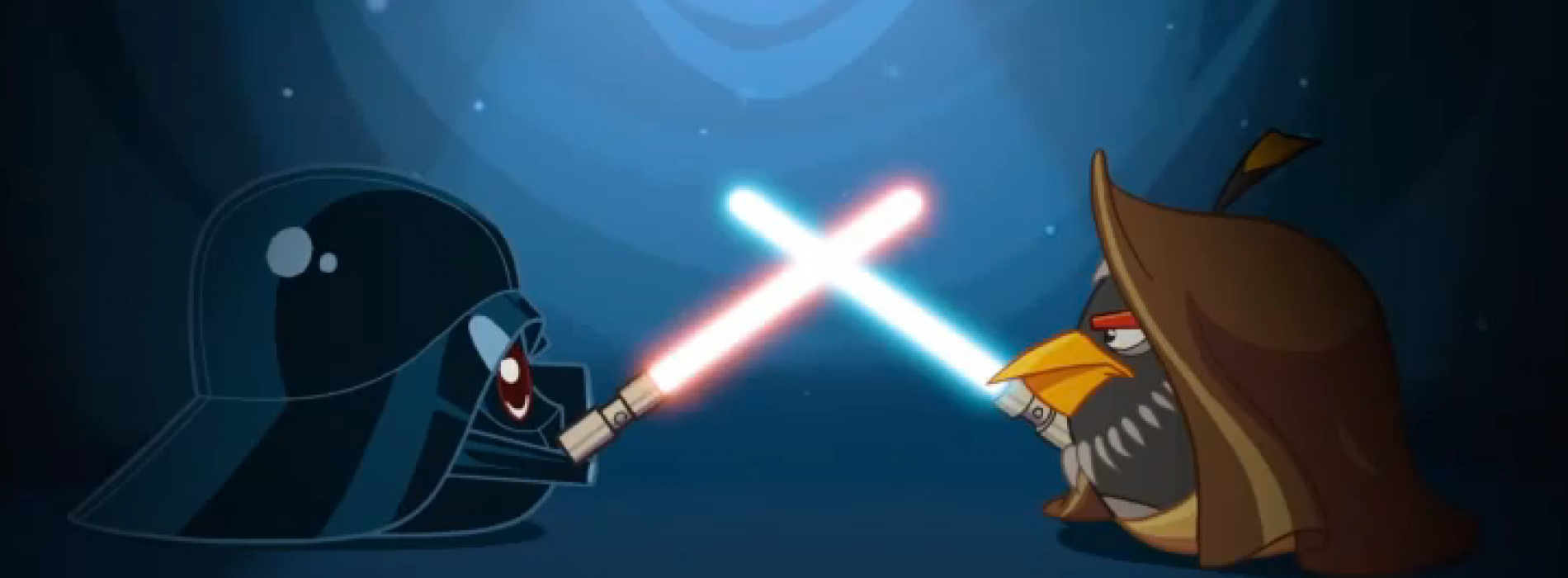 Obi-Wan and Darth Vader square off in latest Angry Birds clip