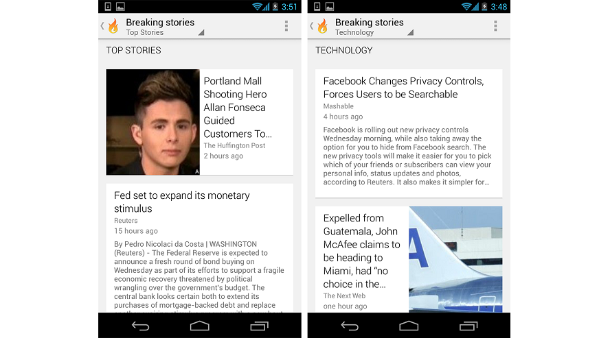 Google Currents Headsup21