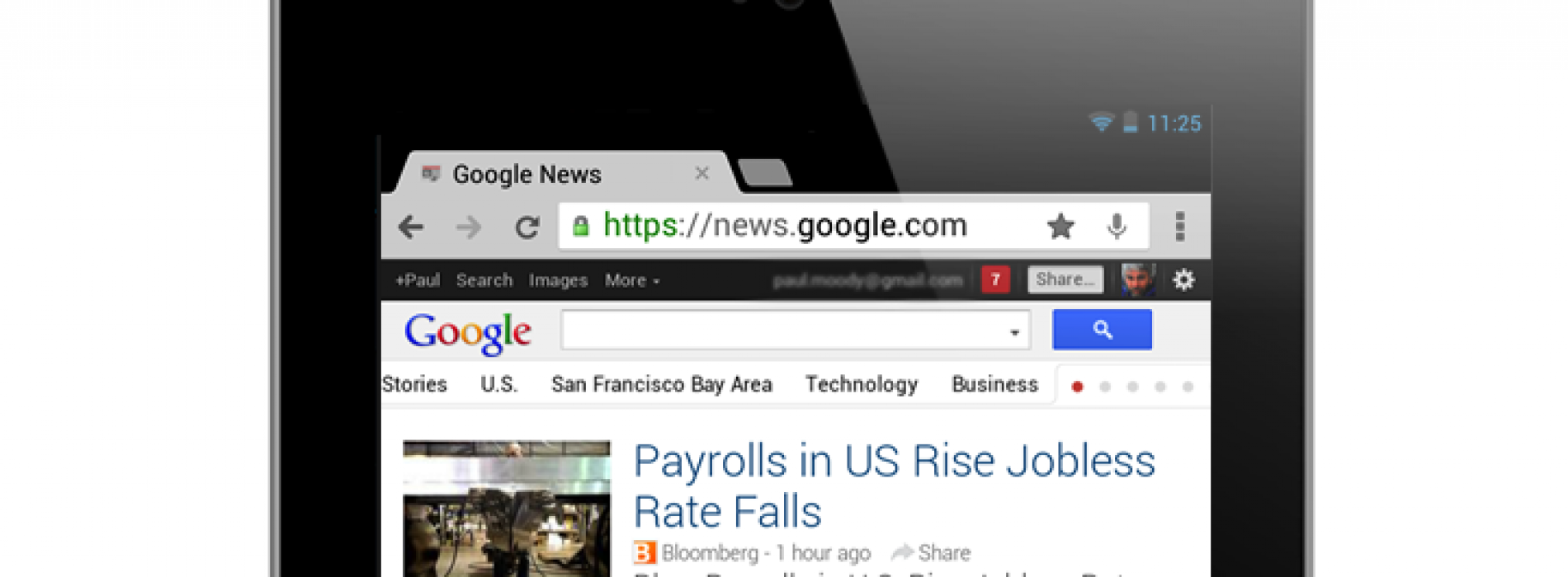 Google News gets 'more natural and fluid' tablet experience