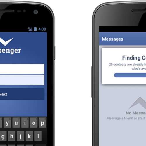 New, easier way to sign up for Facebook Messenger for Android