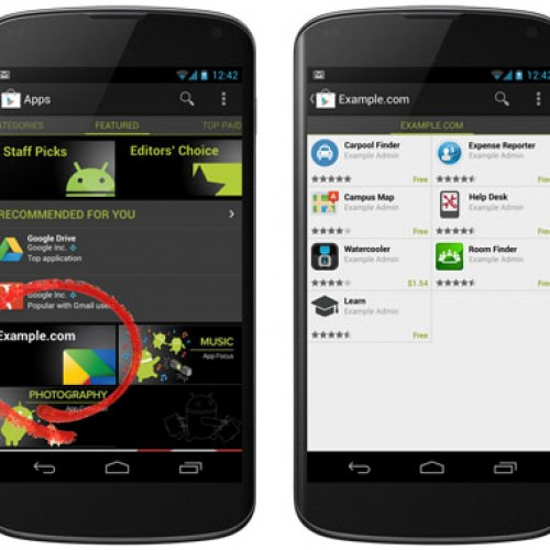 Google Apps customers get Google Play Private Channel