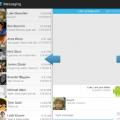 Sliding messaging feature