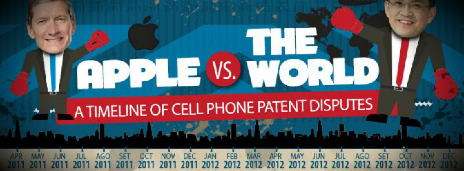 Apple vs. The World: A Timeline of cell phone patent disputes (Infographic)