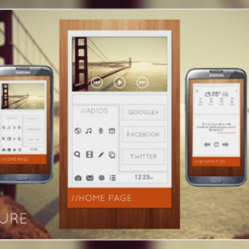 Get this look for your Android homescreen: Brochure
