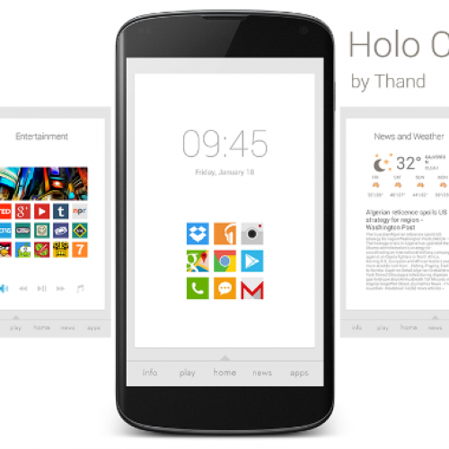 Get this look for your Android home screen: Holo Cards