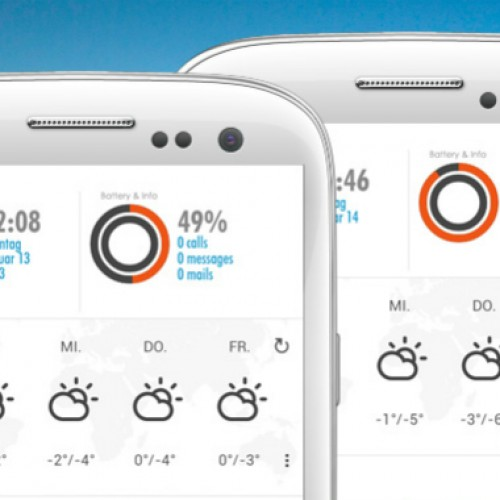 Get this look for your Android homescreen: Ideo White