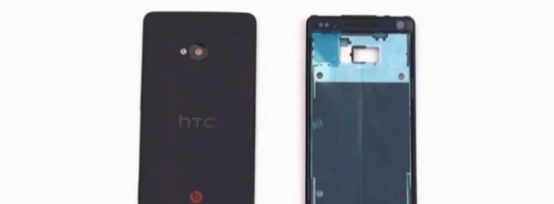 HTC M7 parts shown off in video