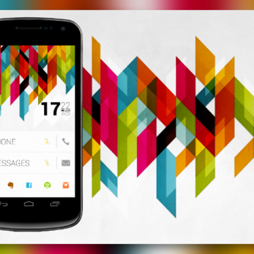 Get this look for your Android homescreen: Tiles 2.1