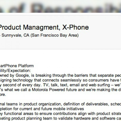 Motorola X-Phone confirmed by job listing