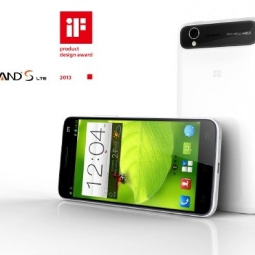 1080p ZTE Grand S makes grand entrance at CES, availability to begin in China