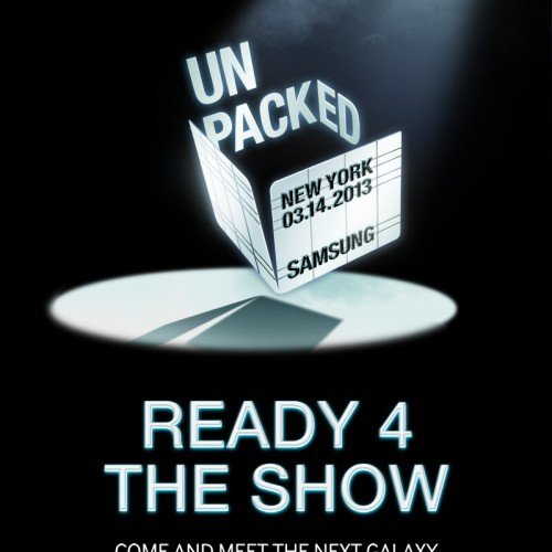 Samsung Unpacked invite confirms Galaxy S4 for March 14