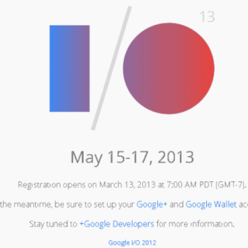 Google IO 2013 registration and pricing details