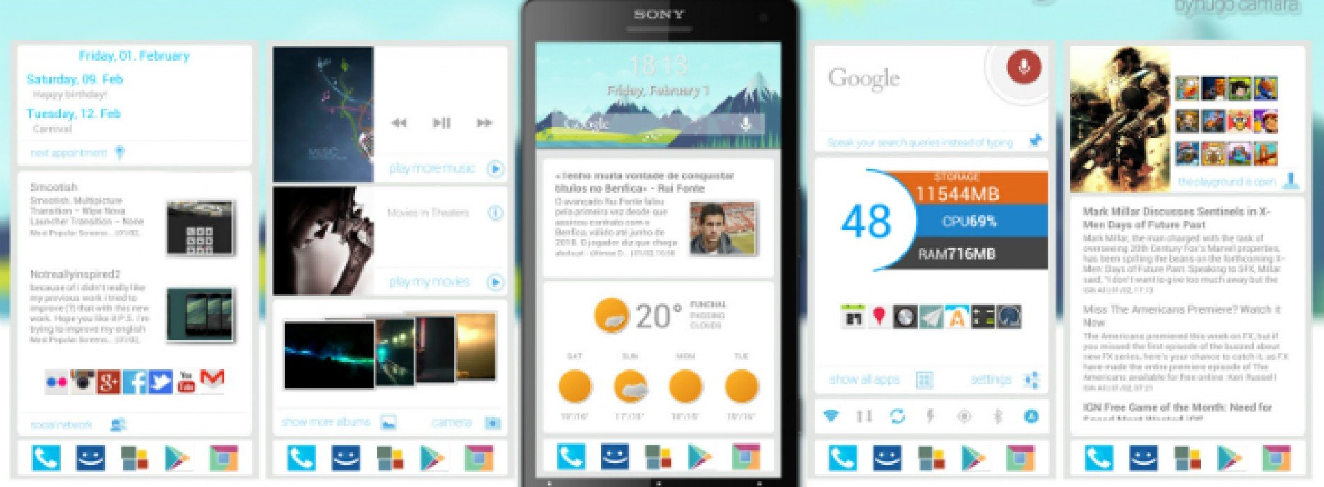 Get this look for your Android smartphone: Google Now UI