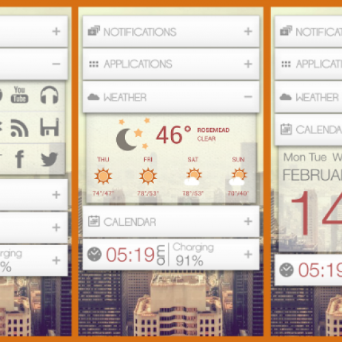 Get this look for your Android smartphone: Dropdown