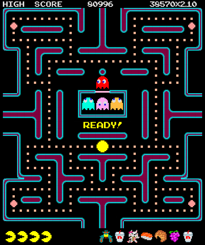 It is an image of Peaceful Pac Man Maze Printable