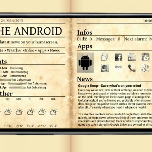 Get this look for your Android: Newspaper