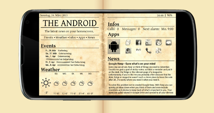 Get This Look Android Newspaper