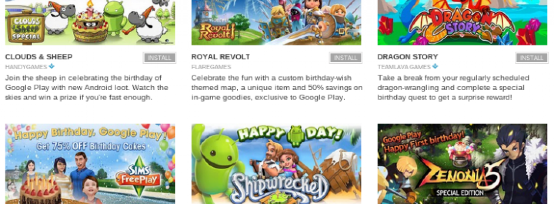Google celebrates 1 year of Google Play with special deals
