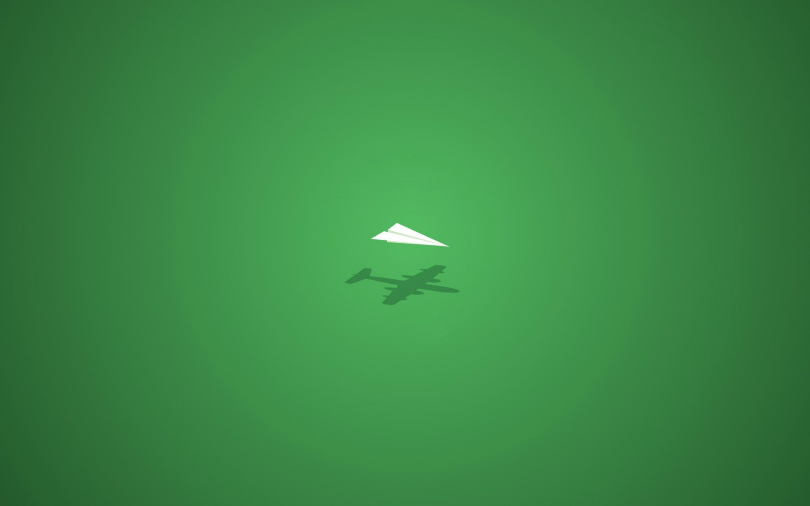 Paper Airplane Green