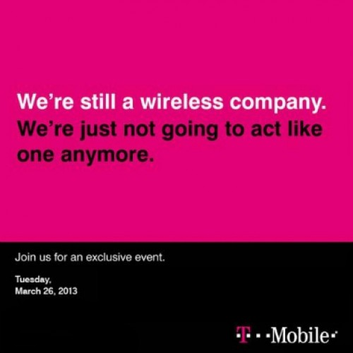 T-Mobile hosting press event on March 26