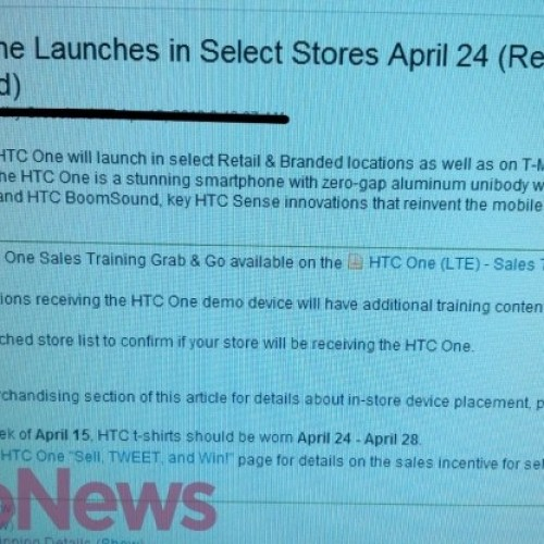 Leaked images confirm HTC One coming to T-Mobile April 24th