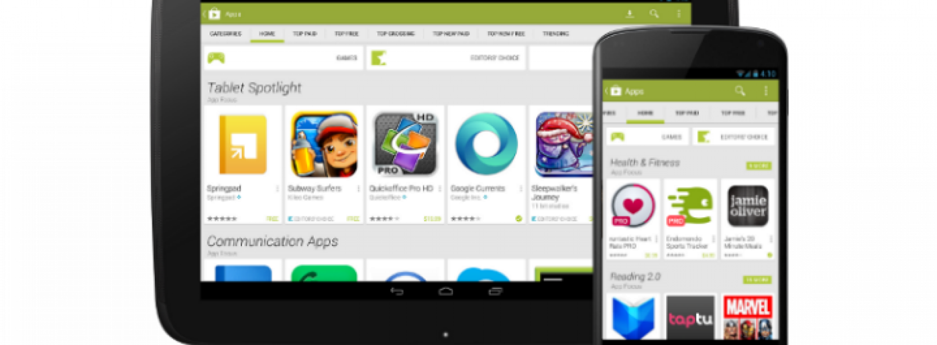 Google intros new look for Google Play Store