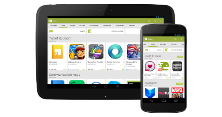 Google Play New Look 720