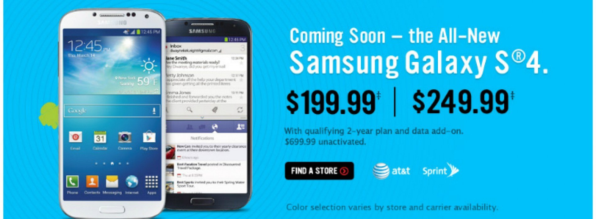 Samsung Galaxy S4 in RadioShack stores April 27th