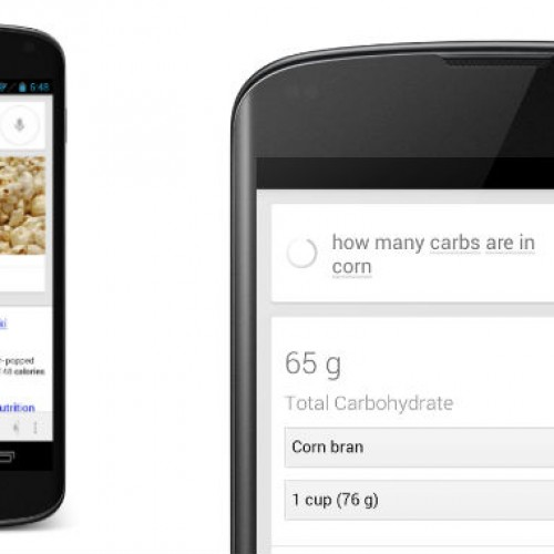 Google's new offering for nutritional information