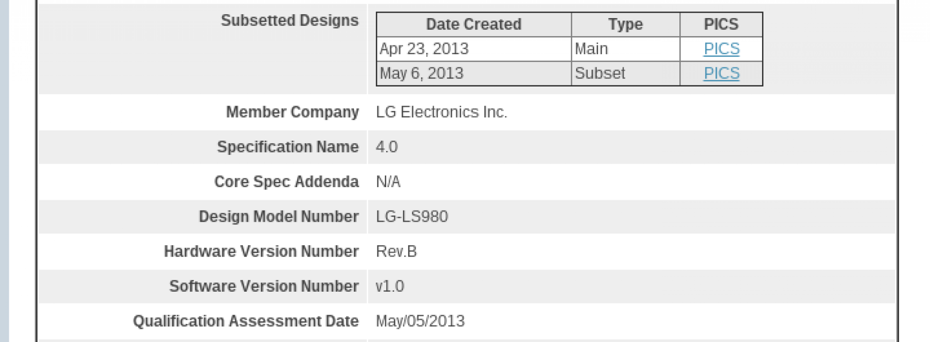 LG Optimus G successor spied on Sprint website