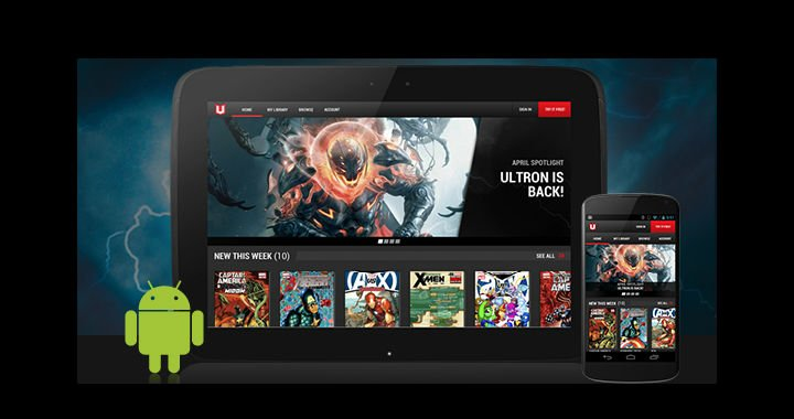 Marvel has released the marvel unlimited app for android phones and