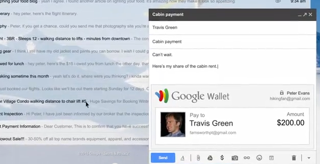 'Send Money' option added to Gmail and Google Wallet [video]
