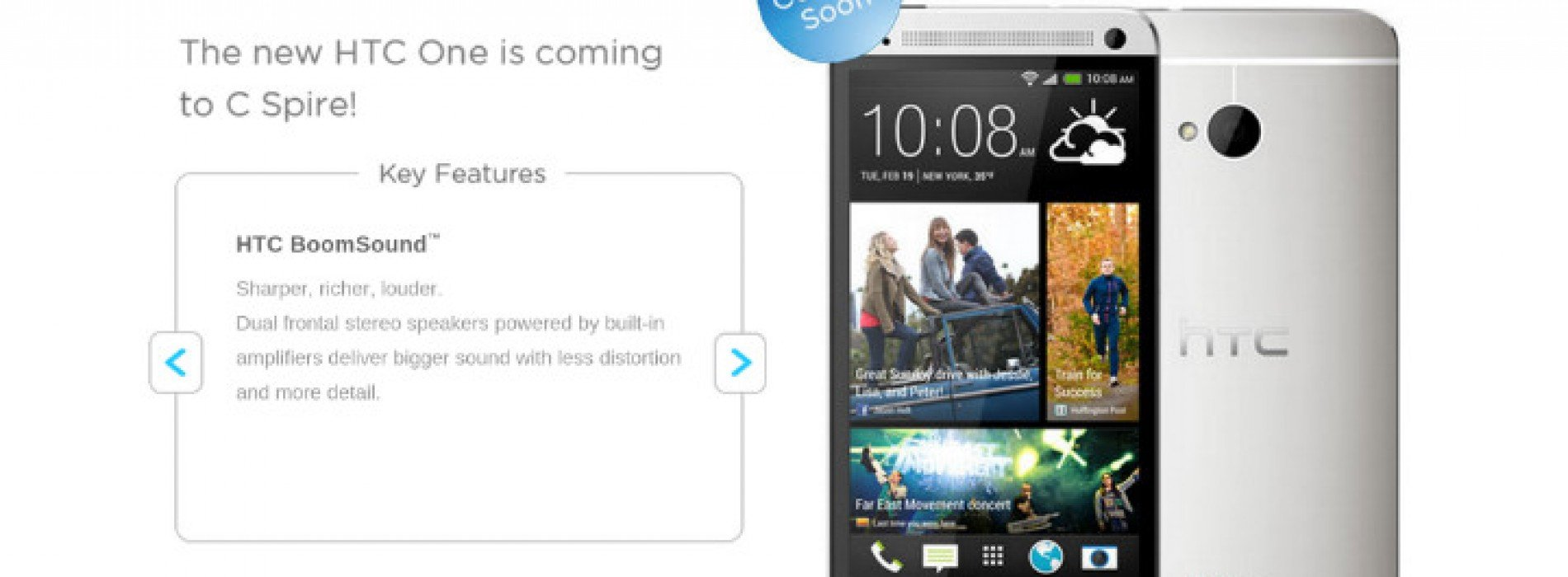 C Spire Wireless confirms plans to carry HTC One this summer