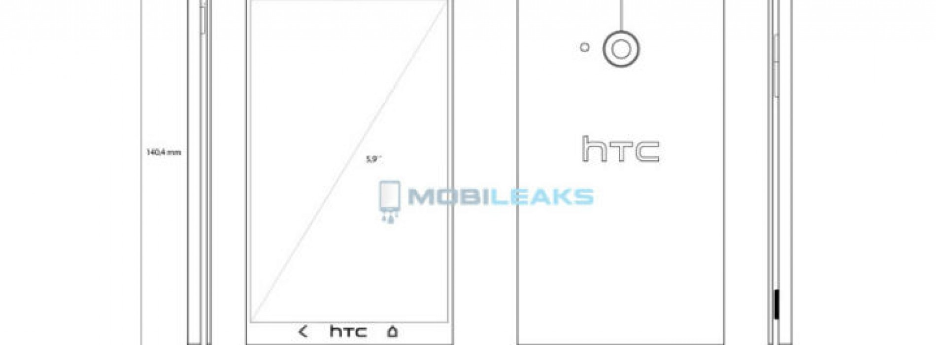 Sketch of rumored HTC T6 reveals an extra-large HTC One form factor