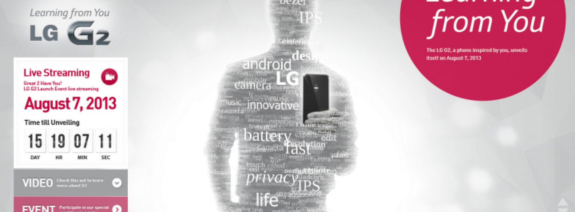 LG posts teaser video for upcoming G2 smartphone