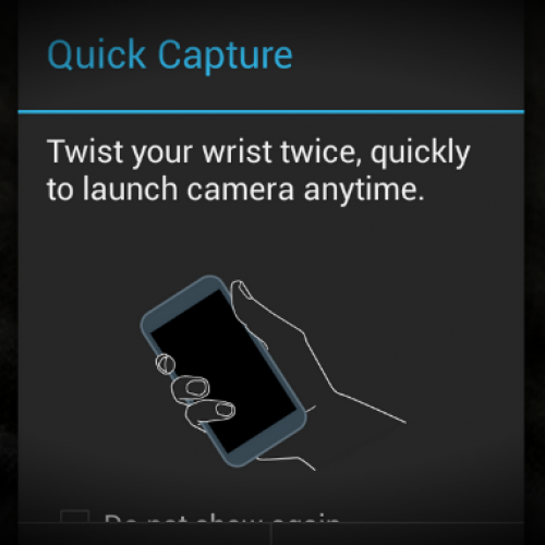 Moto X leak tips gesture-based camera controls