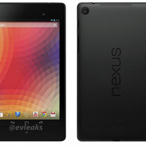 Nexus 7 render shows full front and back