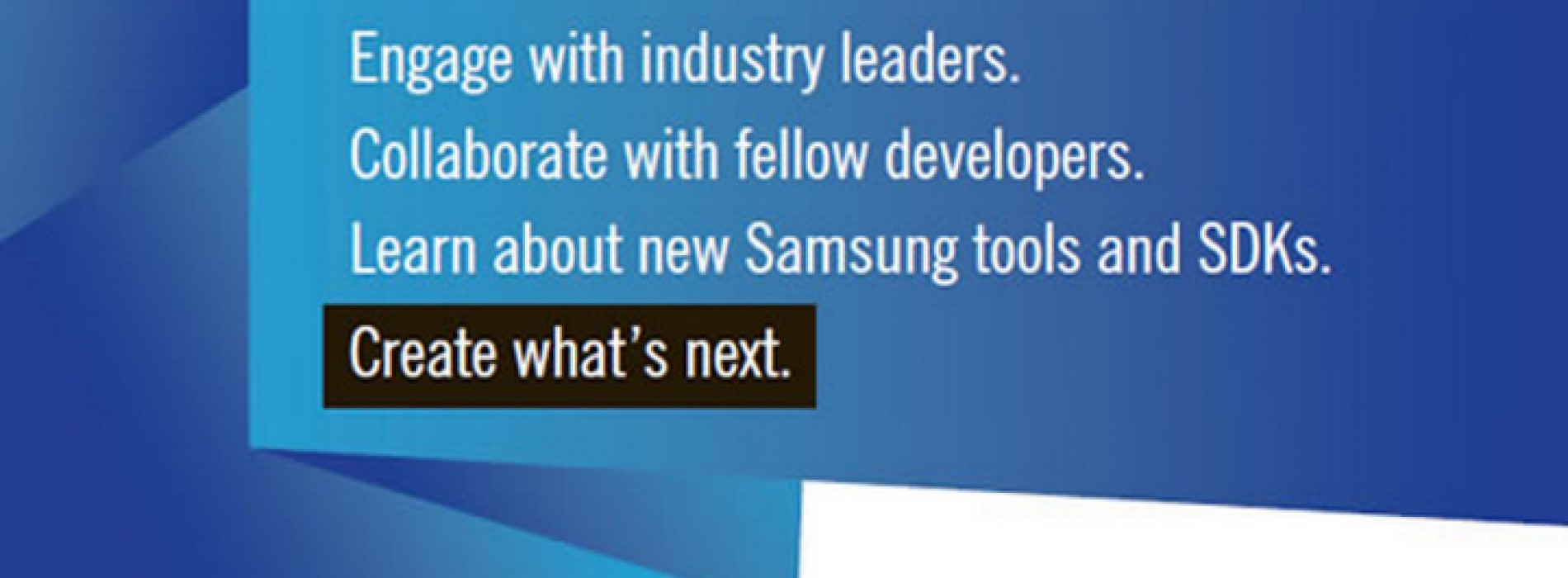 Registration now open for first annual Samsung Developers Conference