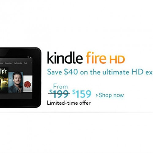 Amazon limited-time deal sees Kindle Fire HD selling for $159
