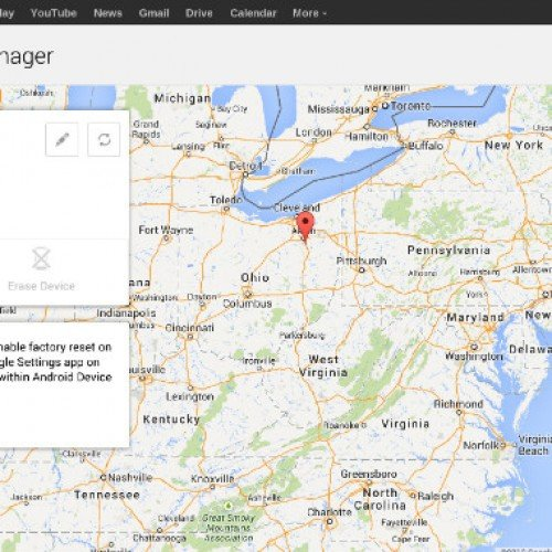Android Device Manager application now available in Play Store