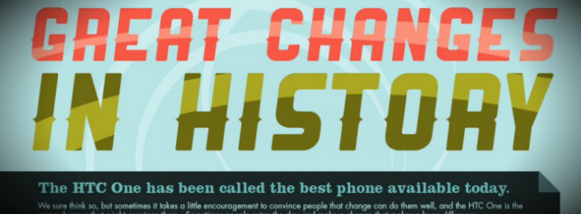 "HTC talks up ""Great Changes in History"" in latest blog post"