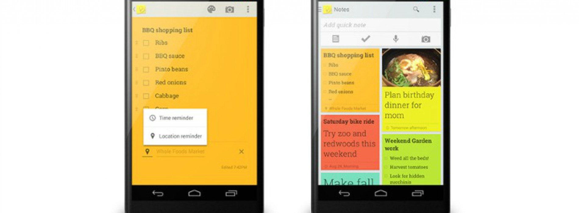 Google Keep updated to include reminders and Google Now integration