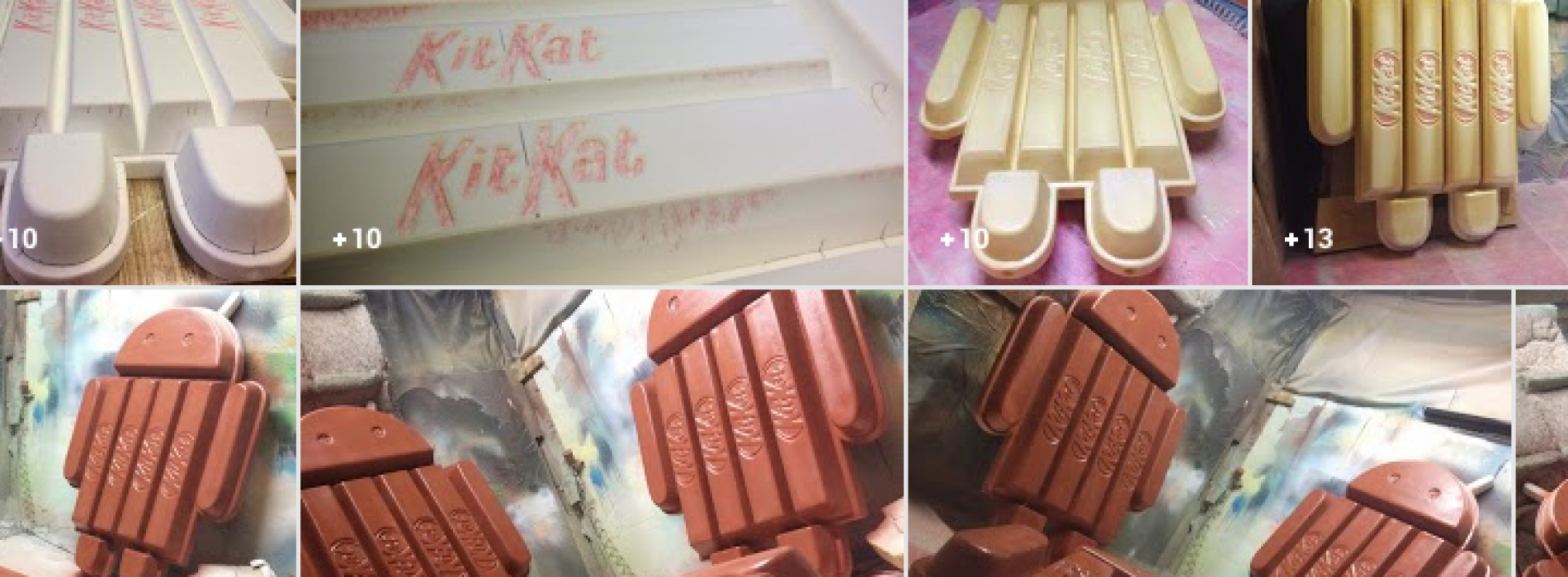 Check out these photos of the Android 4.4 KitKat statue coming to life