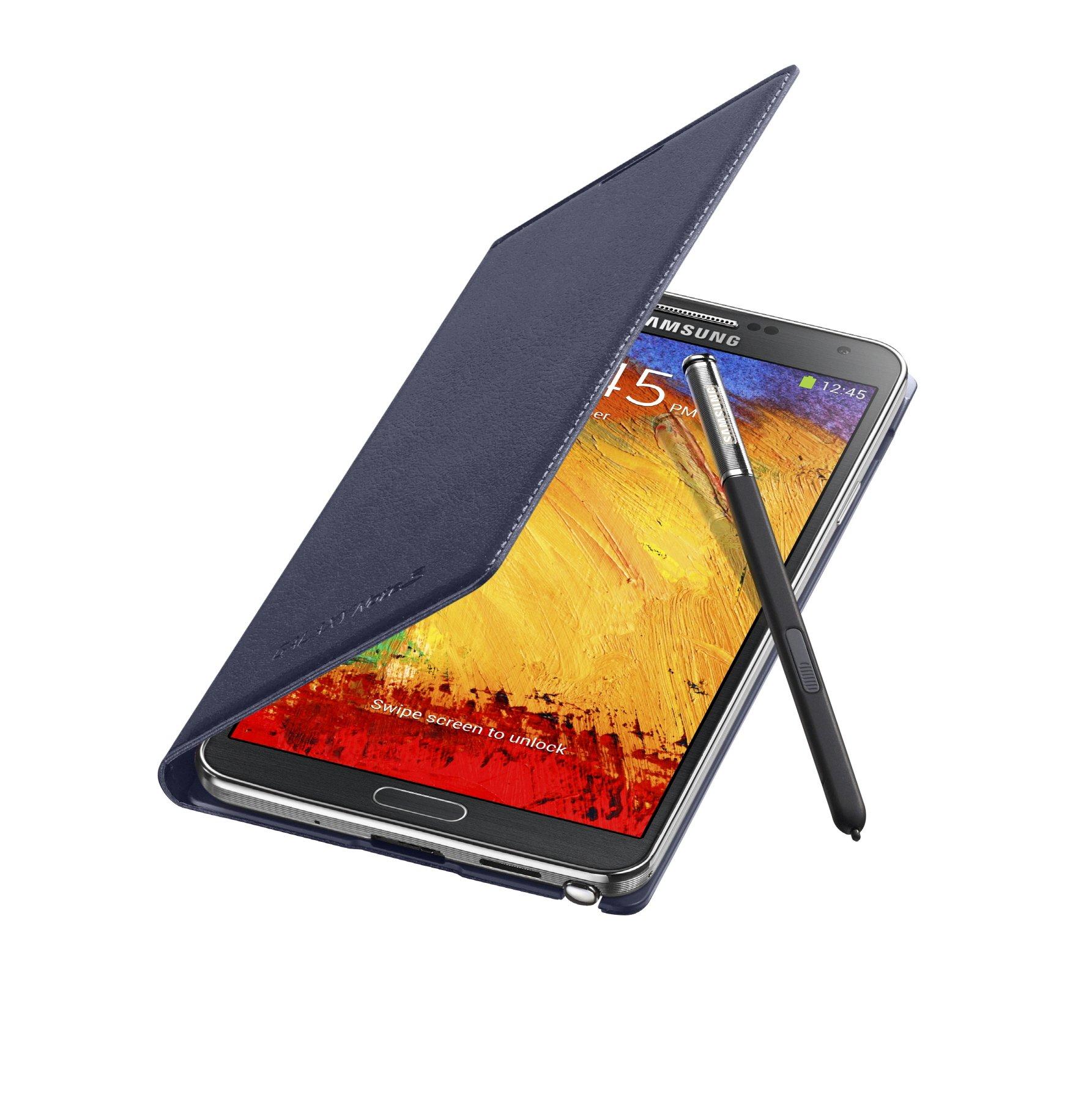 Galaxy Note3 FlipCover_004_Open Pen_Indigo Blue